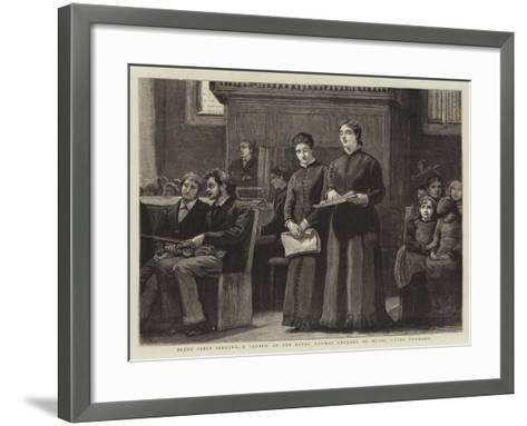 Blind Girls Singing, a Sketch at the Royal Normal College of Music, Upper Norwood-Robert Walker Macbeth-Framed Art Print