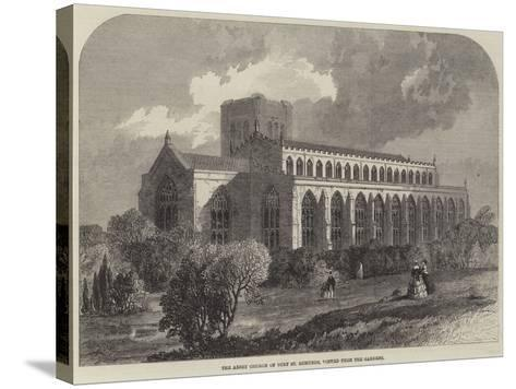 The Abbey Church of Bury St Edmunds, Viewed from the Gardens-Samuel Read-Stretched Canvas Print