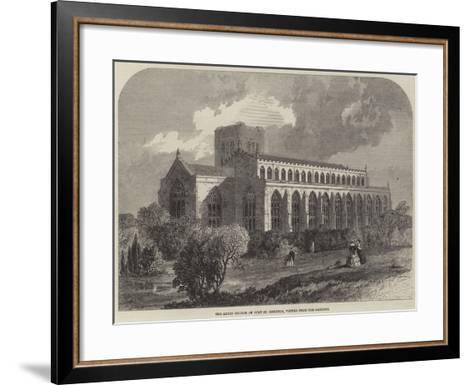The Abbey Church of Bury St Edmunds, Viewed from the Gardens-Samuel Read-Framed Art Print