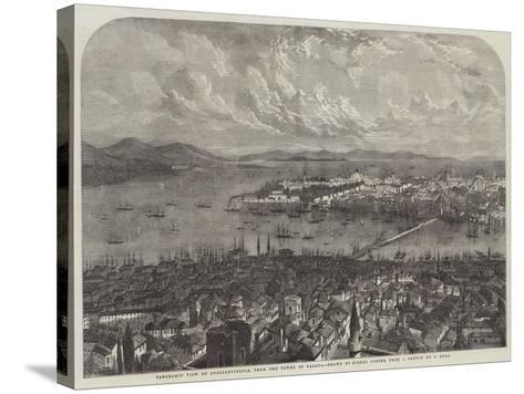 Panoramic View of Constantinople, from the Tower of Galata-Samuel Read-Stretched Canvas Print