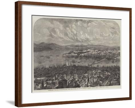 Panoramic View of Constantinople, from the Tower of Galata-Samuel Read-Framed Art Print