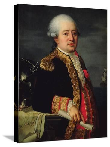 Portrait of the Comte De La Couldre De La Bretonniere-Robert Lefevre-Stretched Canvas Print