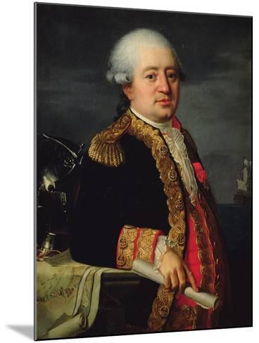 Portrait of the Comte De La Couldre De La Bretonniere-Robert Lefevre-Mounted Giclee Print