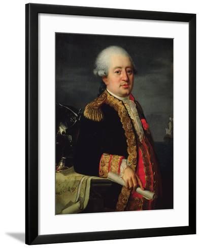 Portrait of the Comte De La Couldre De La Bretonniere-Robert Lefevre-Framed Art Print