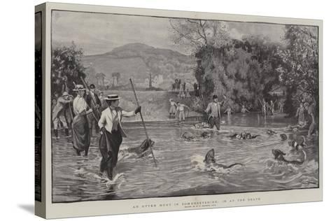 An Otter Hunt in Somersetshire, in at the Death-Robert Walker Macbeth-Stretched Canvas Print