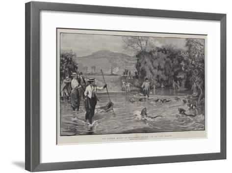 An Otter Hunt in Somersetshire, in at the Death-Robert Walker Macbeth-Framed Art Print
