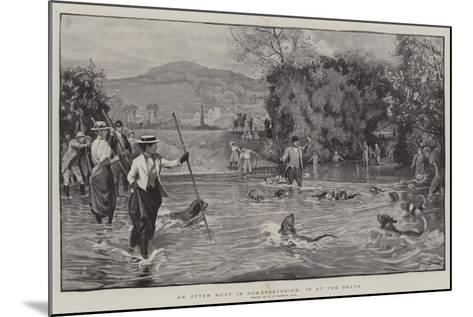 An Otter Hunt in Somersetshire, in at the Death-Robert Walker Macbeth-Mounted Giclee Print