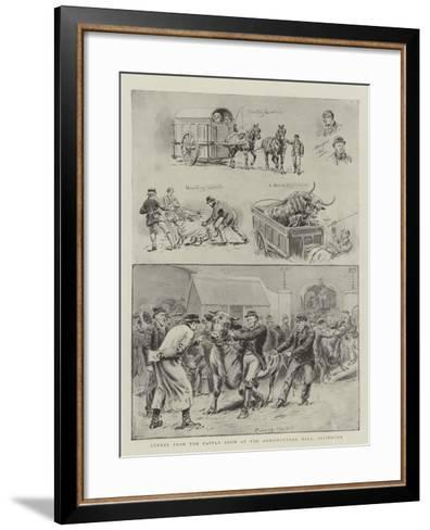 Scenes from the Cattle Show at the Agricultural Hall, Islington-S^t^ Dadd-Framed Art Print