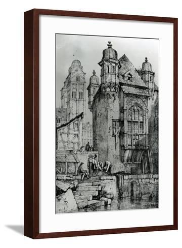 Coblence from Sketches in Flanders and Germany, 1833-Samuel Prout-Framed Art Print