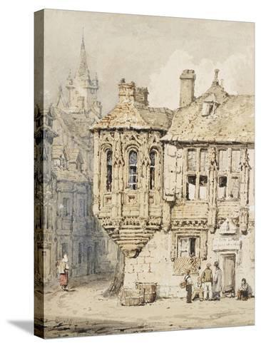 Street Scene in Rouen-Samuel Prout-Stretched Canvas Print
