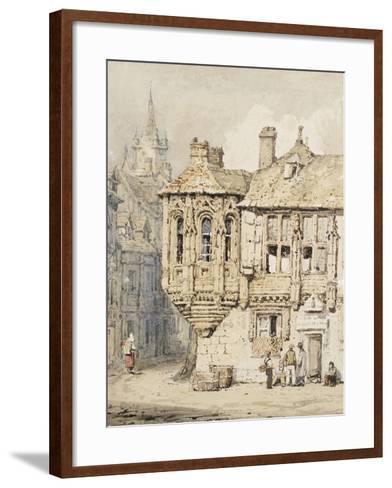 Street Scene in Rouen-Samuel Prout-Framed Art Print