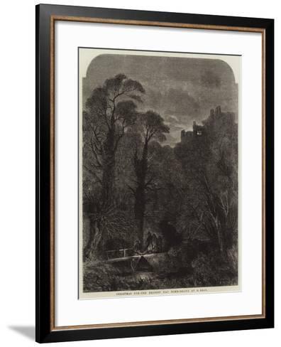 Christmas Eve, the Nearest Way Home-Samuel Read-Framed Art Print