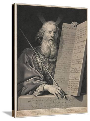 Moses Presenting the Ten Commandments, 1699-Robert Nanteuil-Stretched Canvas Print