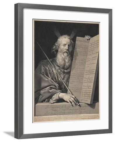 Moses Presenting the Ten Commandments, 1699-Robert Nanteuil-Framed Art Print