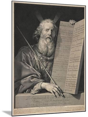 Moses Presenting the Ten Commandments, 1699-Robert Nanteuil-Mounted Giclee Print