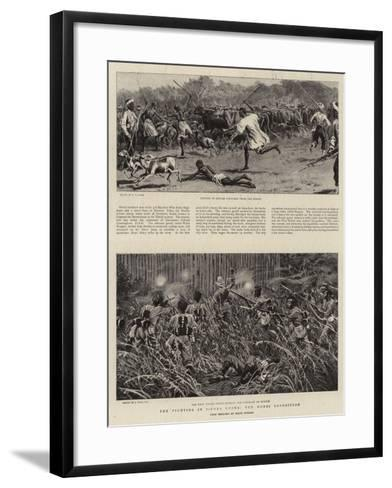 The Fighting in Sierra Leone, the Mendi Expedition-S^t^ Dadd-Framed Art Print