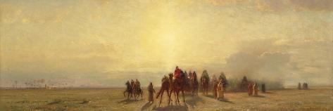 Caravan in the Desert, 1878-Samuel Colman-Stretched Canvas Print