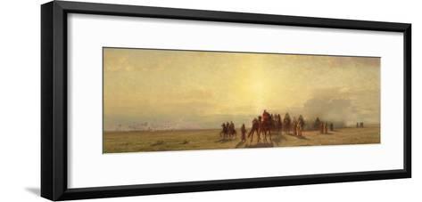 Caravan in the Desert, 1878-Samuel Colman-Framed Art Print