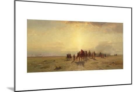 Caravan in the Desert, 1878-Samuel Colman-Mounted Giclee Print