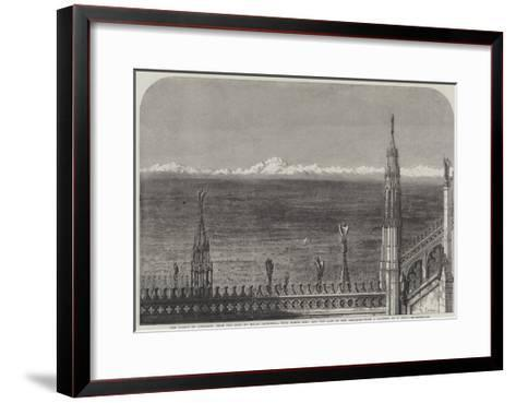 The Plains of Lombardy from the Roof of Milan Cathedral-Samuel Read-Framed Art Print