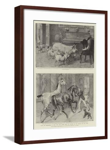 You are Requested to Keep the Hall Doors Shut on Account of the Animals in the Park-Samuel Edmund Waller-Framed Art Print