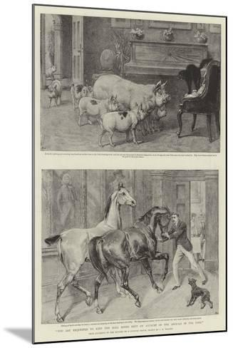 You are Requested to Keep the Hall Doors Shut on Account of the Animals in the Park-Samuel Edmund Waller-Mounted Giclee Print