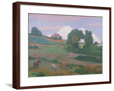 On Luppitt Common, No. 1, 1924-Robert Polhill Bevan-Framed Art Print