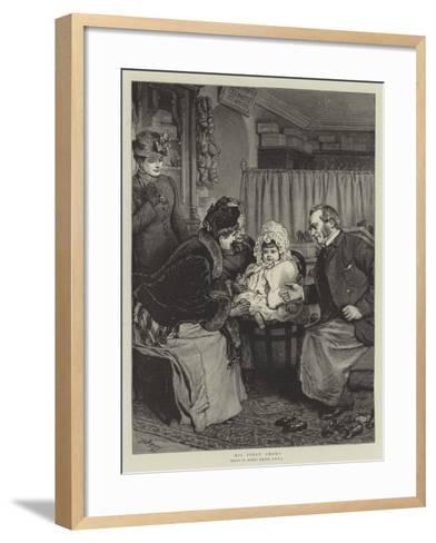 His First Shoes-Robert Barnes-Framed Art Print