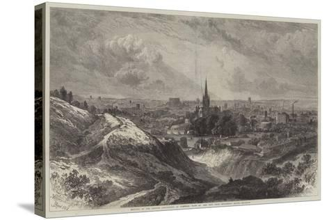 Meeting of the British Association at Norwich, View of the City from Mousehold Heath-Samuel Read-Stretched Canvas Print