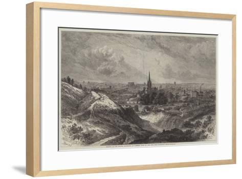 Meeting of the British Association at Norwich, View of the City from Mousehold Heath-Samuel Read-Framed Art Print