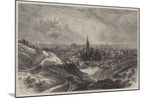 Meeting of the British Association at Norwich, View of the City from Mousehold Heath-Samuel Read-Mounted Giclee Print