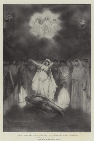 Diarmid, the New Opera by the Marquis of Lorne and Mr Hamish Maccunn, at Covent Garden Theatre-Robert Sauber-Stretched Canvas Print