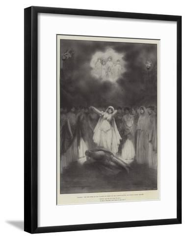 Diarmid, the New Opera by the Marquis of Lorne and Mr Hamish Maccunn, at Covent Garden Theatre-Robert Sauber-Framed Art Print