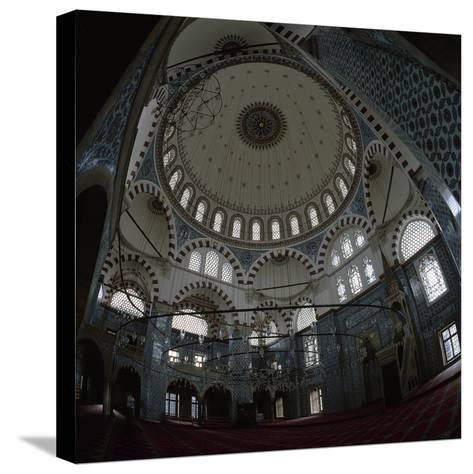 Turkey. Istanbul. Rustem Pasha Mosque. Built by Mimar Sinan Between 1561-1563. Inside- Sinan-Stretched Canvas Print