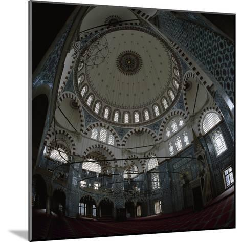 Turkey. Istanbul. Rustem Pasha Mosque. Built by Mimar Sinan Between 1561-1563. Inside- Sinan-Mounted Photographic Print