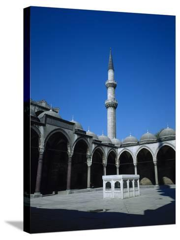 Turkey. Istanbul. Suleymaniye Mosque. Ottoman Style. 16th Century. Courtyard and Ablution Fountain- Sinan-Stretched Canvas Print