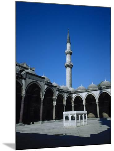Turkey. Istanbul. Suleymaniye Mosque. Ottoman Style. 16th Century. Courtyard and Ablution Fountain- Sinan-Mounted Photographic Print