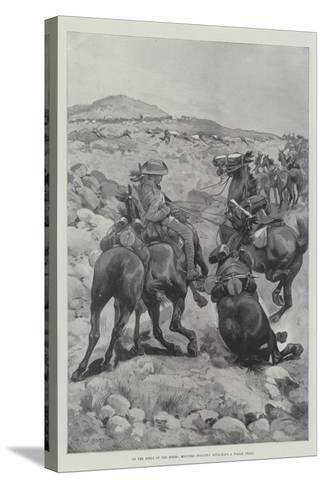 On the Heels of the Boers, Mounted Infantry Attacking a Wagon Train-Sir Frederick William Burton-Stretched Canvas Print