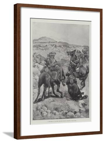 On the Heels of the Boers, Mounted Infantry Attacking a Wagon Train-Sir Frederick William Burton-Framed Art Print