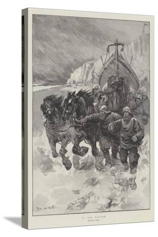 To the Rescue!-Sir Frederick William Burton-Stretched Canvas Print