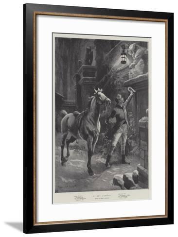 A Late Arrival-Sir Frederick William Burton-Framed Art Print