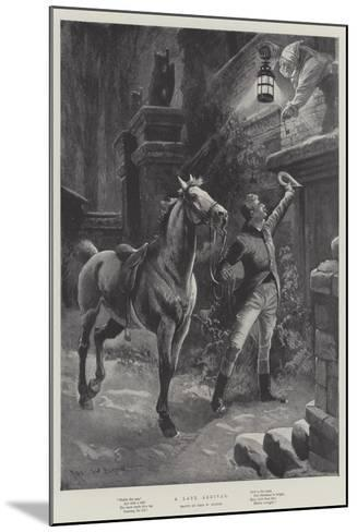 A Late Arrival-Sir Frederick William Burton-Mounted Giclee Print
