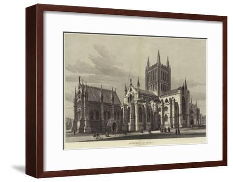 Hereford Cathedral-Samuel Read-Framed Art Print