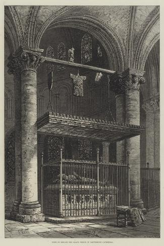 Tomb of Edward the Black Prince in Canterbury Cathedral-Samuel Read-Stretched Canvas Print