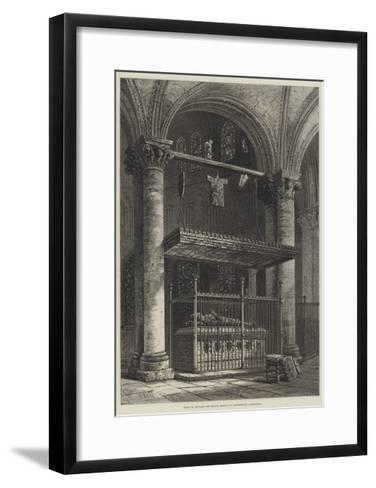 Tomb of Edward the Black Prince in Canterbury Cathedral-Samuel Read-Framed Art Print