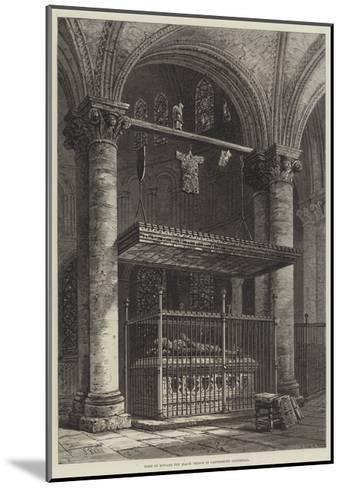 Tomb of Edward the Black Prince in Canterbury Cathedral-Samuel Read-Mounted Giclee Print