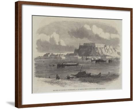 The Town and Fortress of Peterwardein, on the Danube-Samuel Read-Framed Art Print