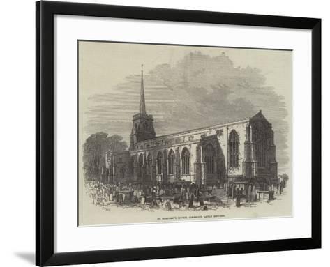 St Margaret's Church, Lowestoft, Lately Restored-Samuel Read-Framed Art Print