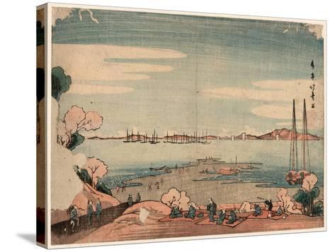 Dokanyama Shinagawa Oki Ukie-Shotei Hokuju-Stretched Canvas Print