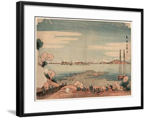 Dokanyama Shinagawa Oki Ukie-Shotei Hokuju-Framed Art Print